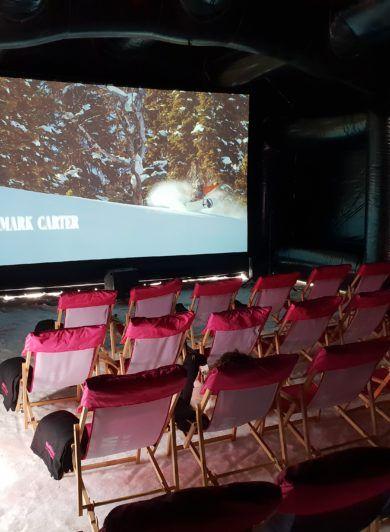 sala kinowa na stoku, Zjazd Rynku Reklamy, mobilna sala kinowa, kino na stoku, kino na śniegu