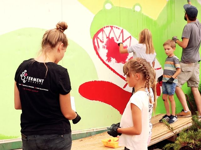 warsztaty tworzenia murali, warsztaty dla dzieci